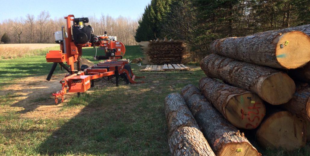 sawmill service site view