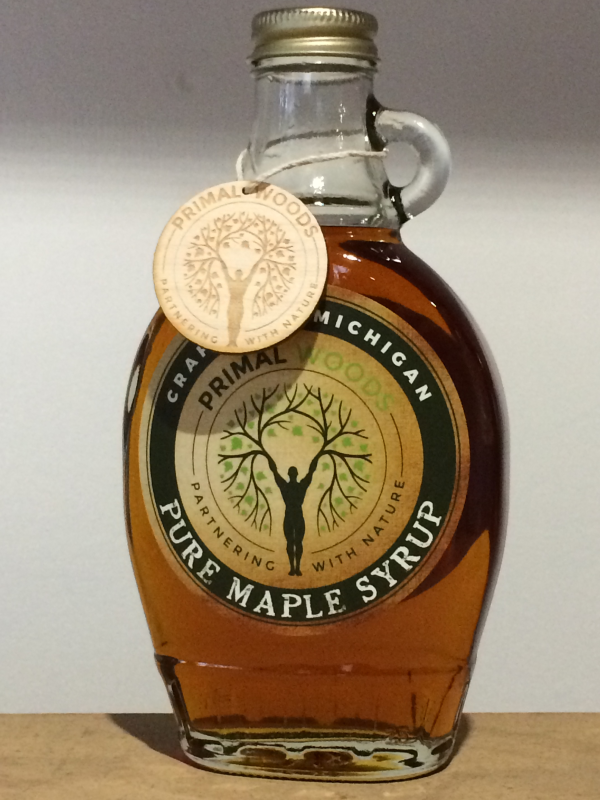 Amber Rich Taste Pure Maple Syrup In Half Pint Glass
